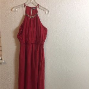 Lily Rose Long Red Sleeveless Dress. Size L